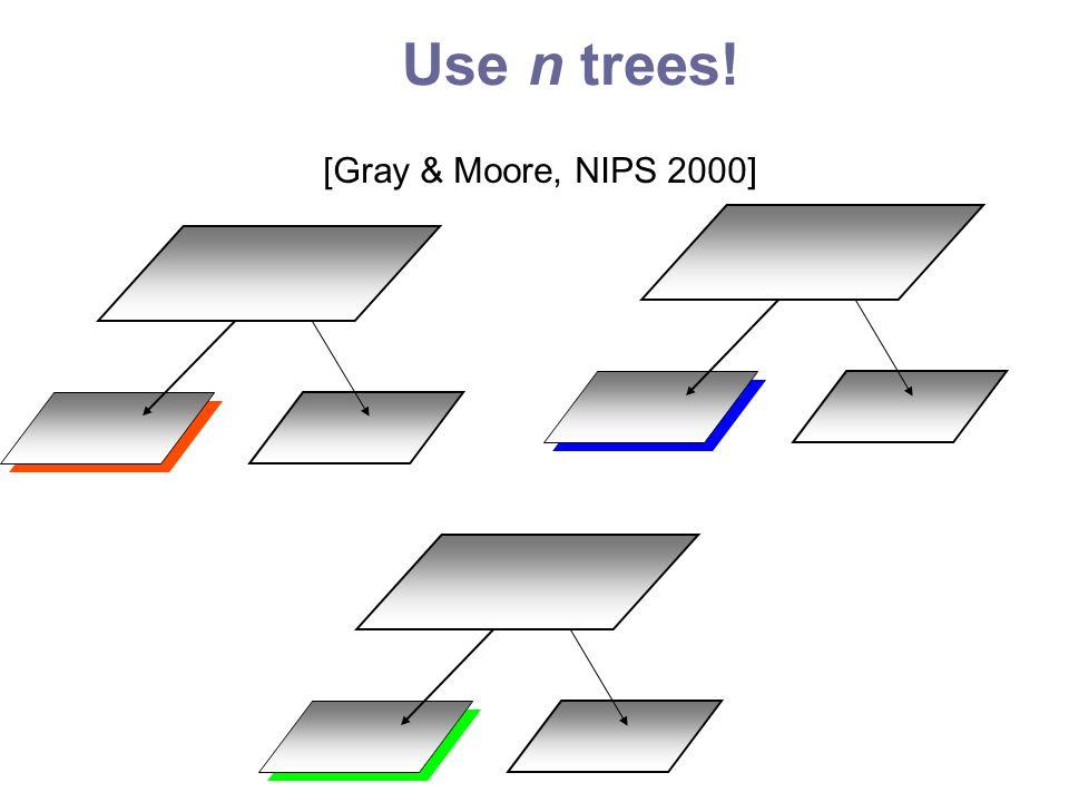 Use n trees! [Gray & Moore, NIPS 2000]