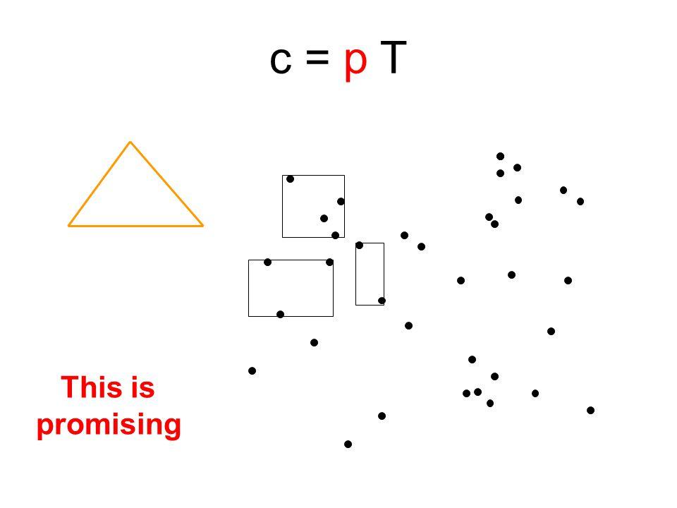 This is promising c = p T
