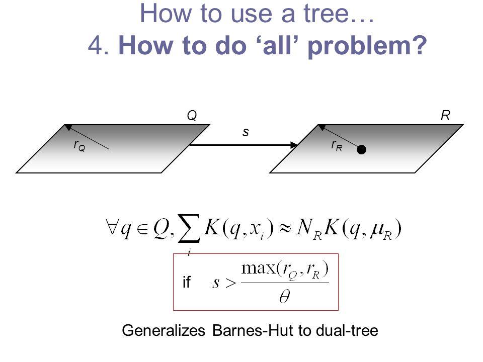 rRrR rQrQ s if Generalizes Barnes-Hut to dual-tree RQ