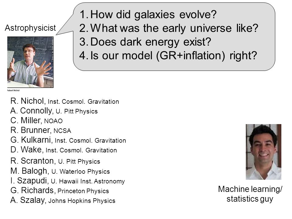 1.How did galaxies evolve. 2.What was the early universe like.