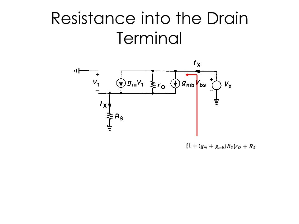 Resistance into the Source Terminal