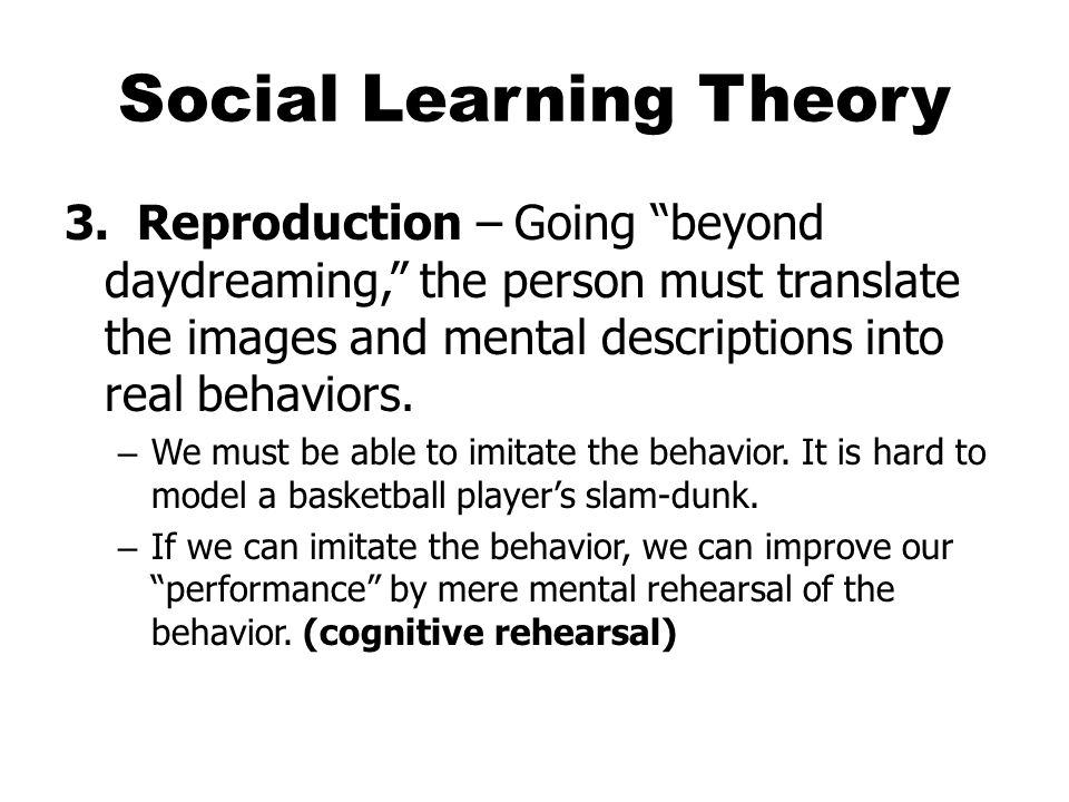 Social Learning Theory 3.