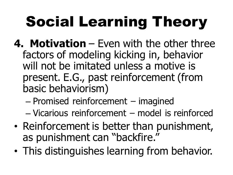 Social Learning Theory 4.
