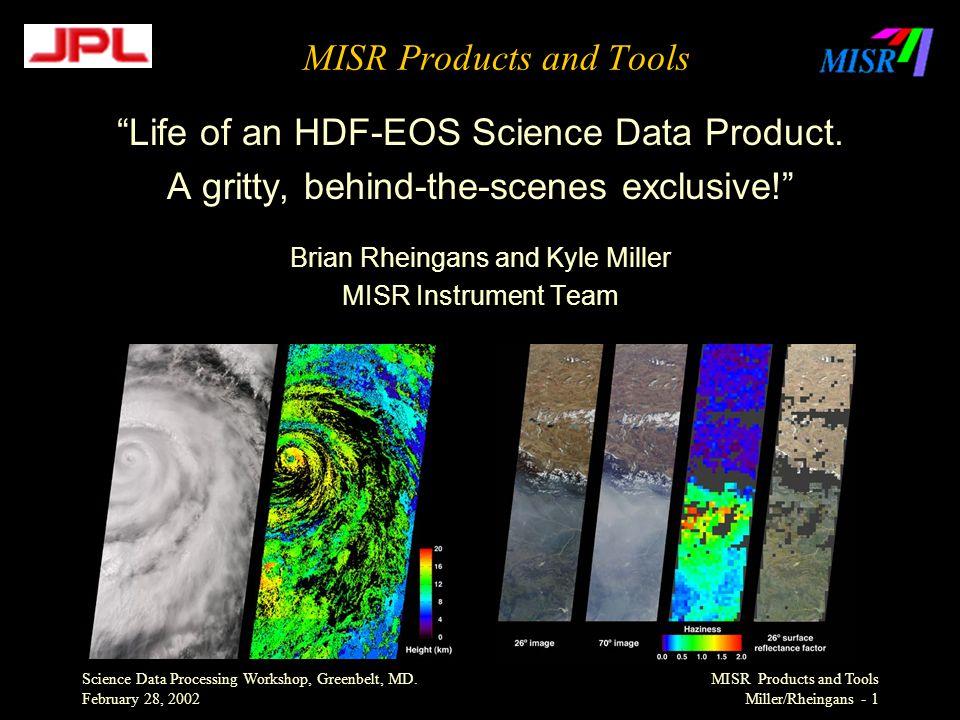 Science Data Processing Workshop, Greenbelt, MD.