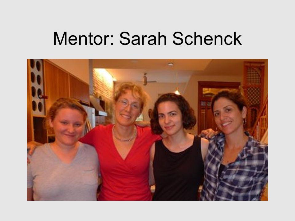 Mentor: Sarah Schenck