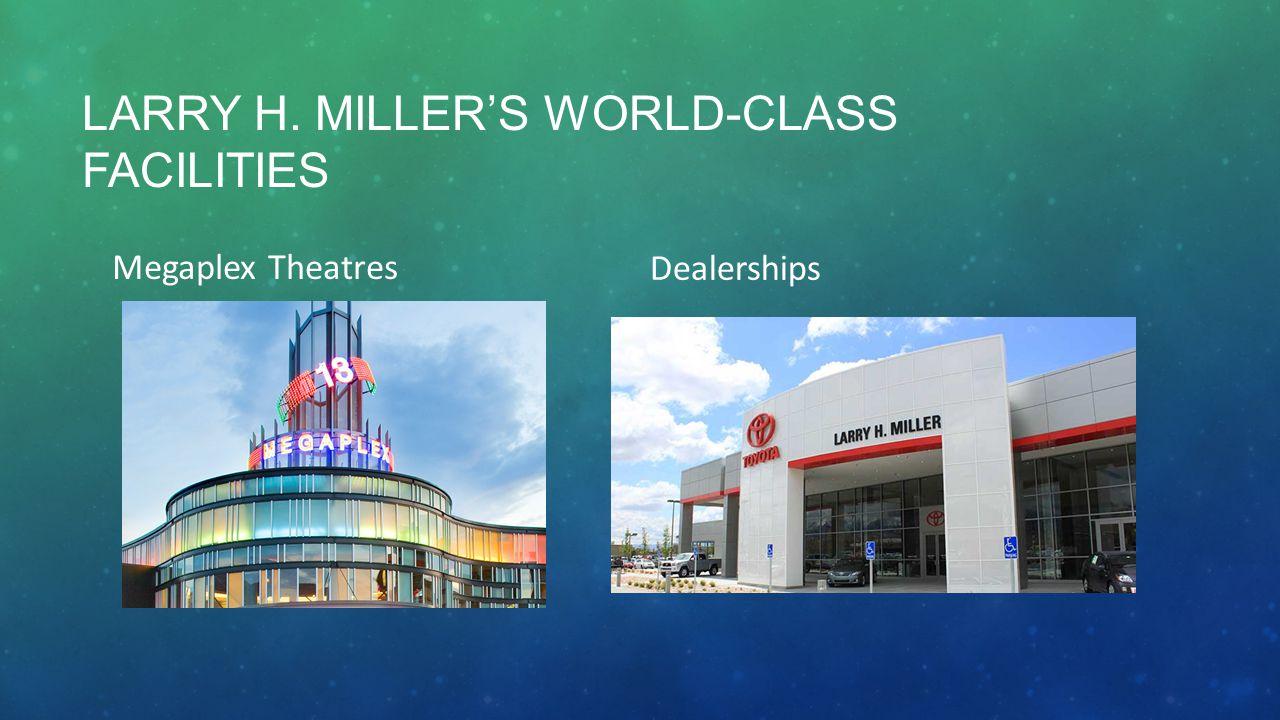 LARRY H. MILLER'S WORLD-CLASS FACILITIES Megaplex Theatres Dealerships