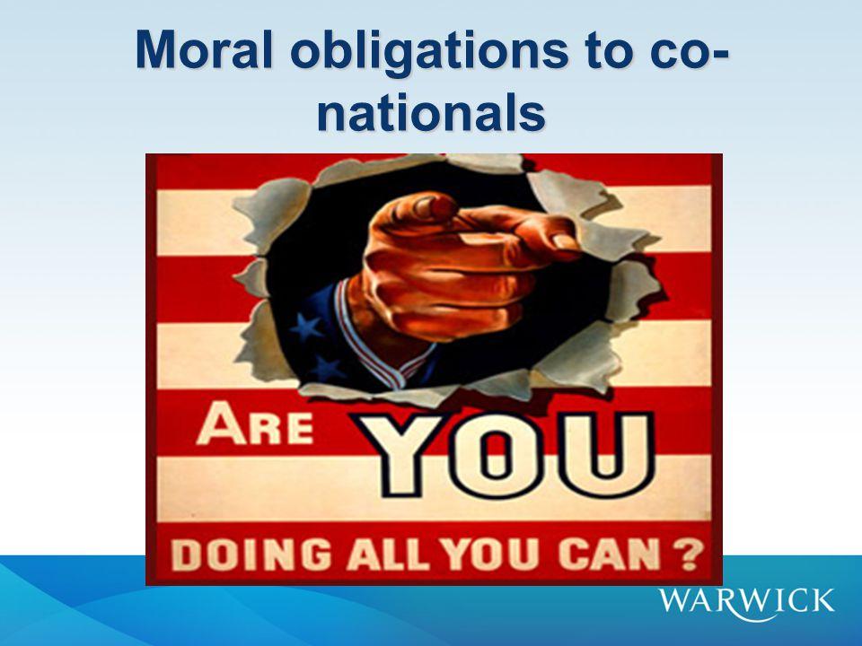Moral obligations to co- nationals