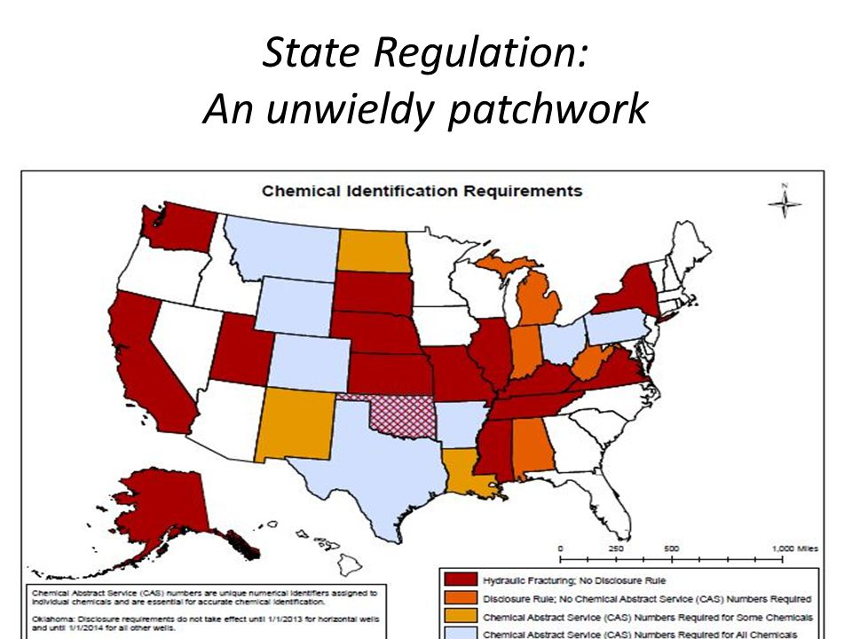 State Regulation: An unwieldy patchwork