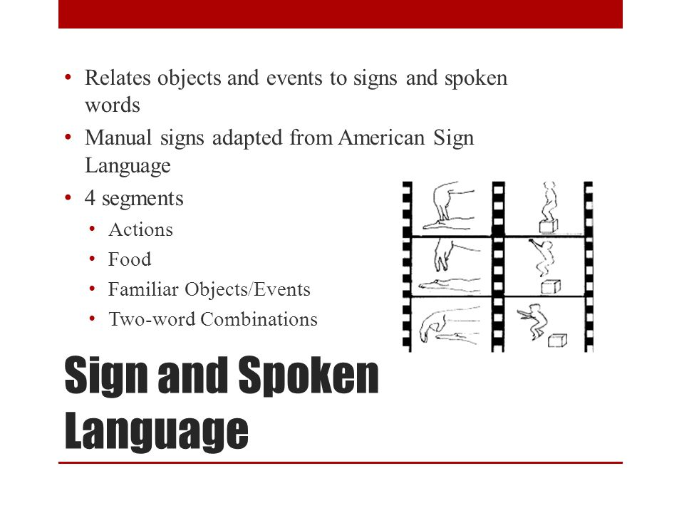 Sign and Spoken Language DVD of Sign and Spoken Language Video 0 5:16 Video 1 1:45