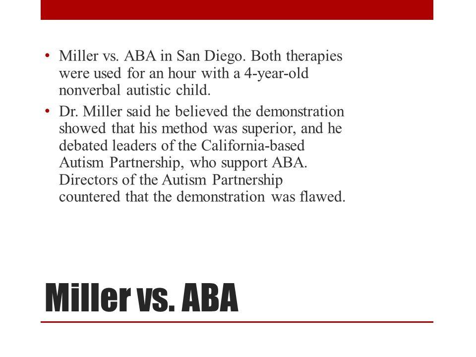 Miller vs ABA Miller vs. ABA