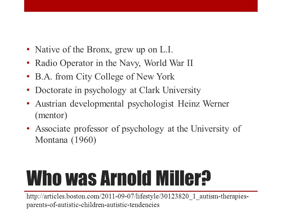 Who was Arnold Miller.