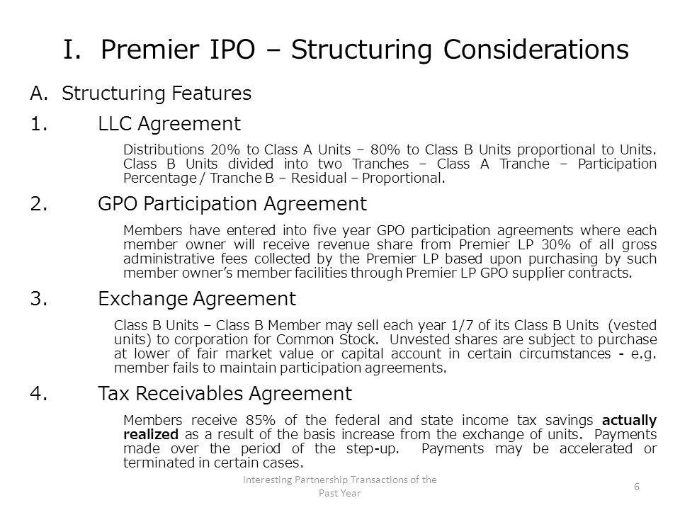 I.Premier IPO – Tax Issues B.