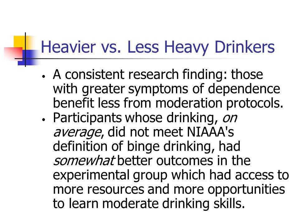 Heavier vs.