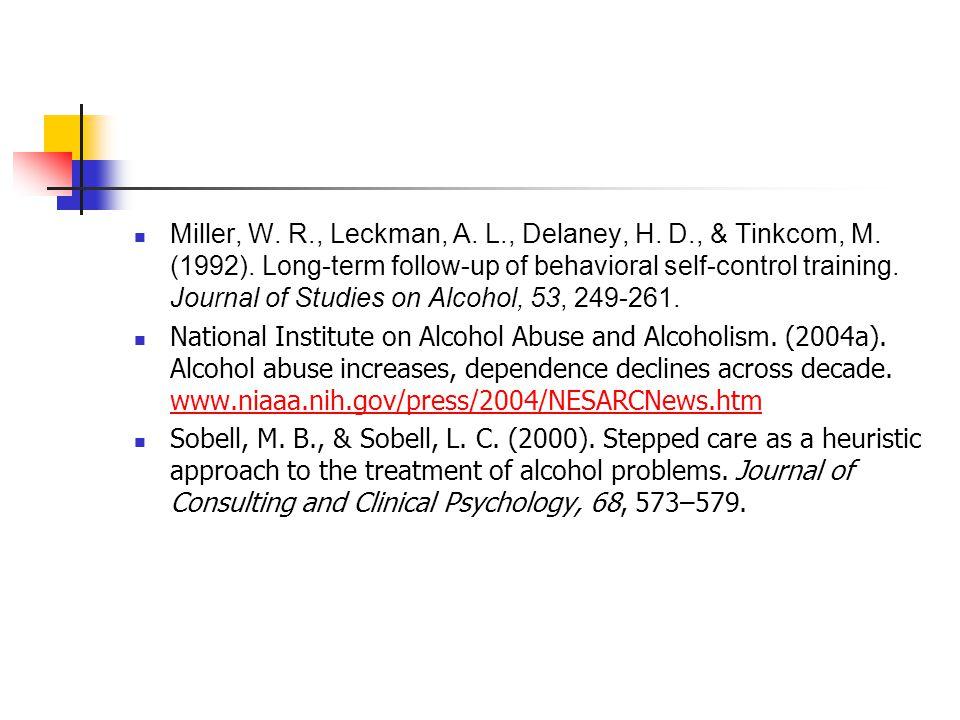 Miller, W. R., Leckman, A. L., Delaney, H. D., & Tinkcom, M.