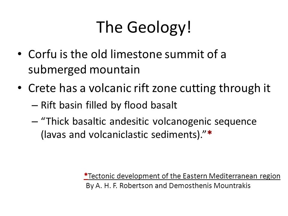 The Geology!