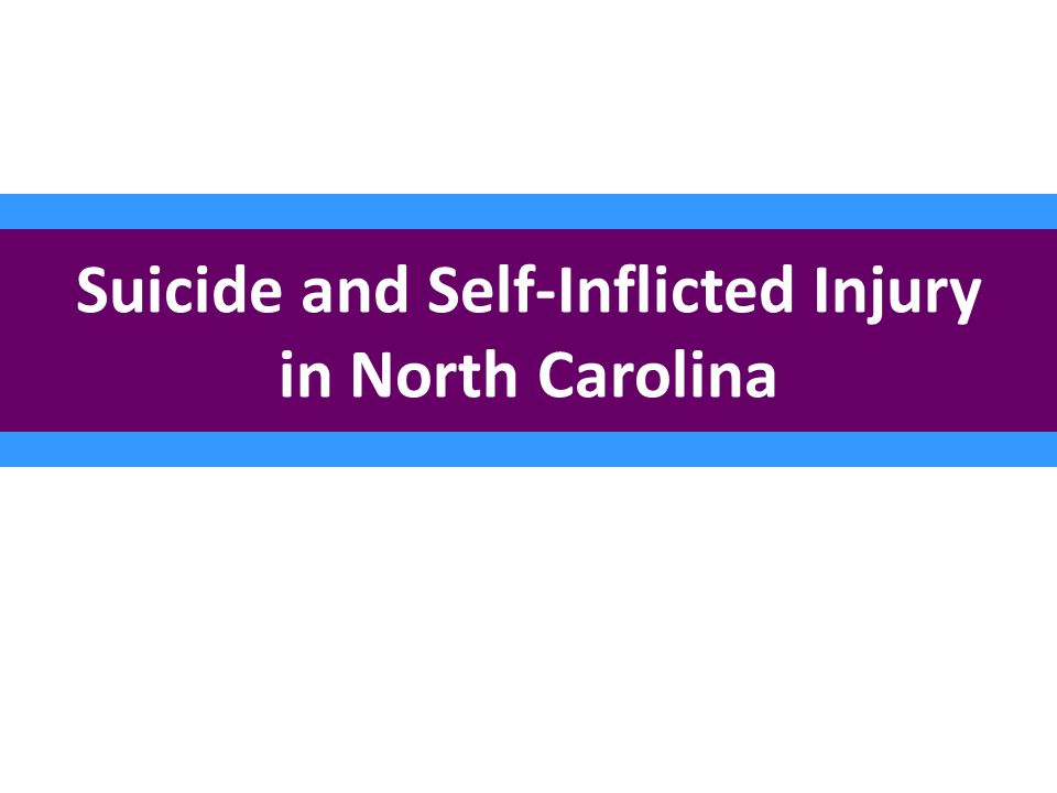 Suicide and Self-Inflicted Injury in North Carolina