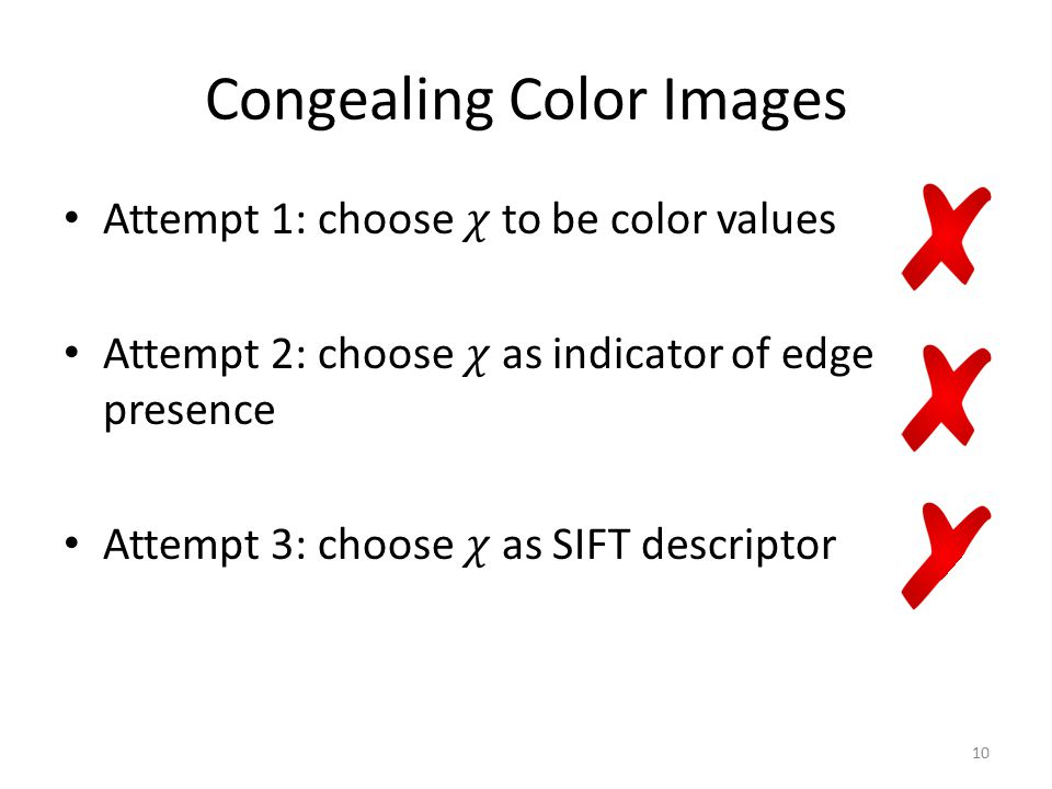 Congealing Color Images 10