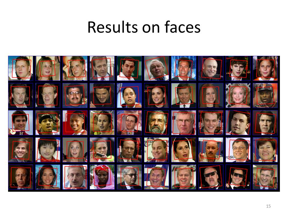 Results on faces 15