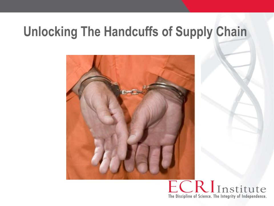 Unlocking The Handcuffs of Supply Chain
