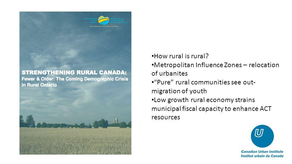 How rural is rural.