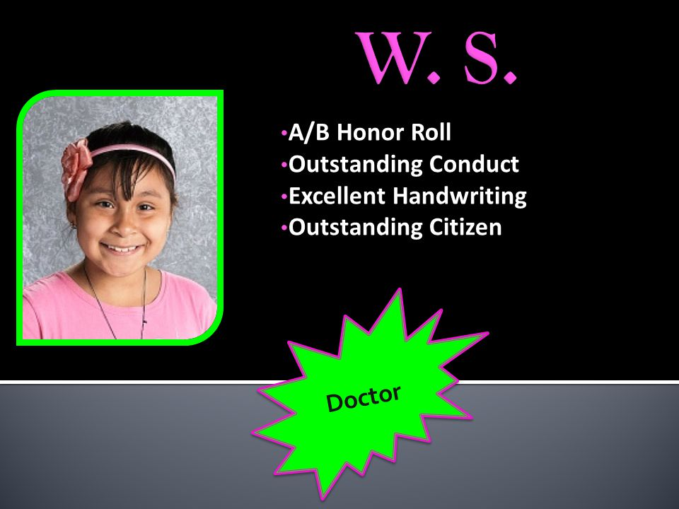 Outstanding Conduct Outstanding Attendance Hard Worker