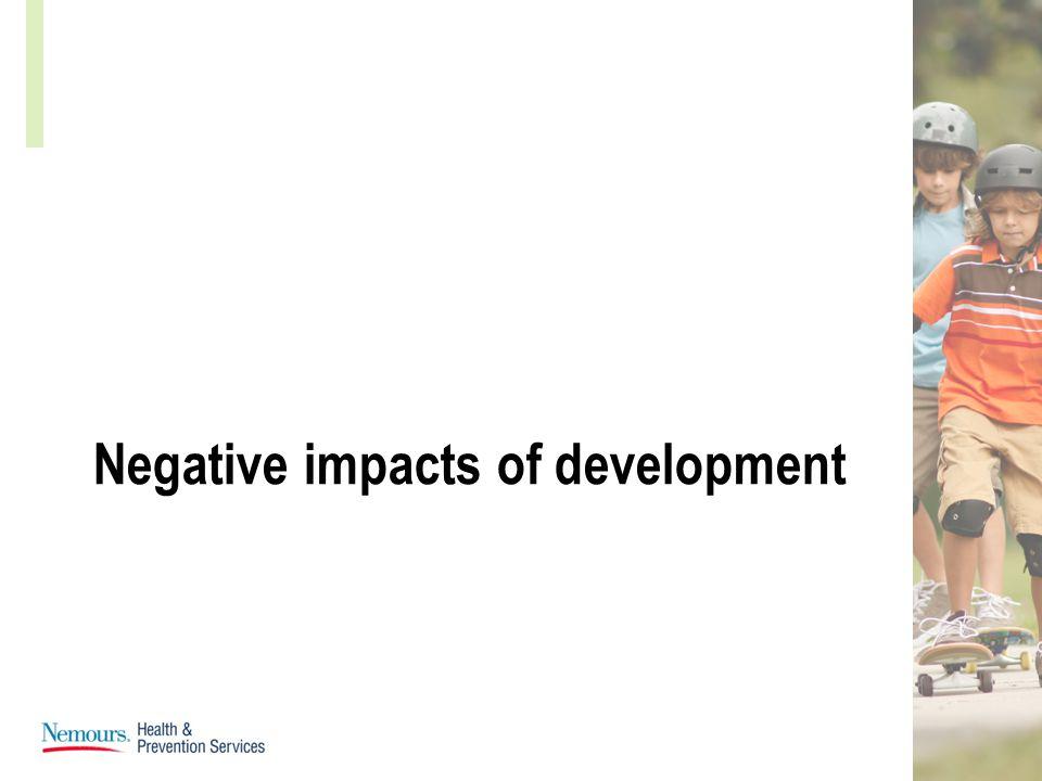 Negative impacts of development