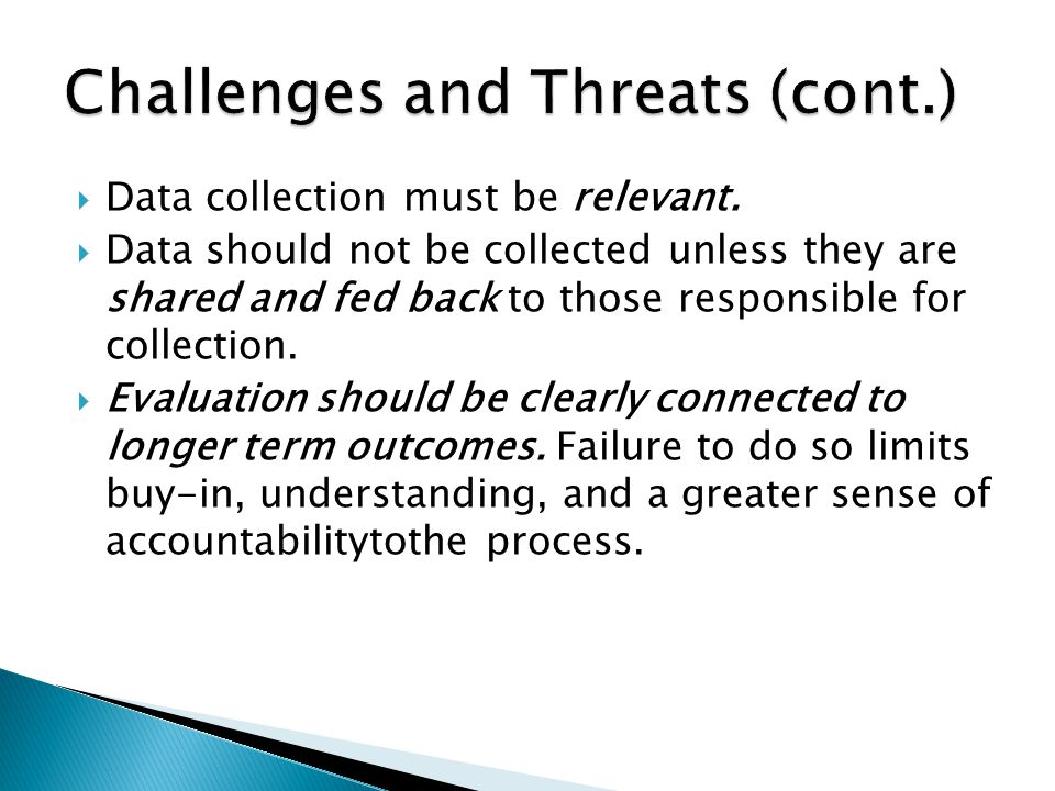  Data collection must be relevant.