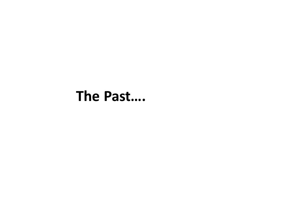 The Past….