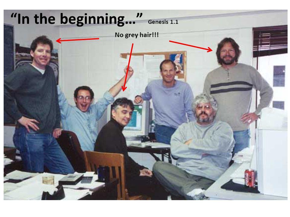"""No grey hair!!! """"In the beginning…"""" Genesis 1.1"""
