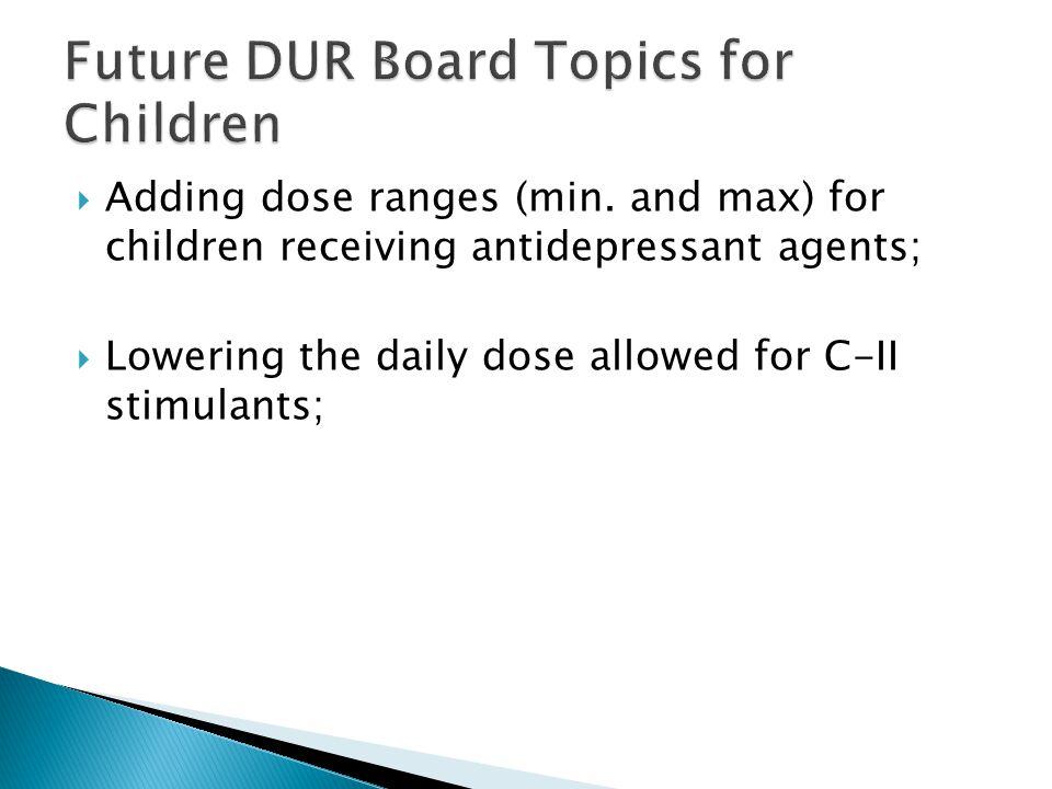  Adding dose ranges (min.