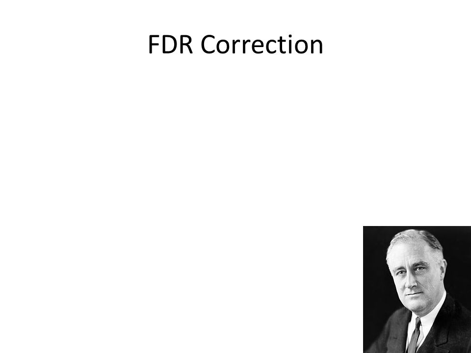 FDR Correction