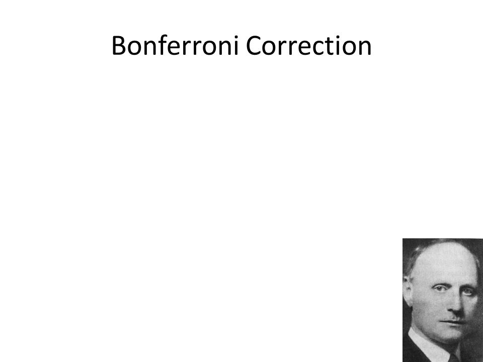 Bonferroni Correction