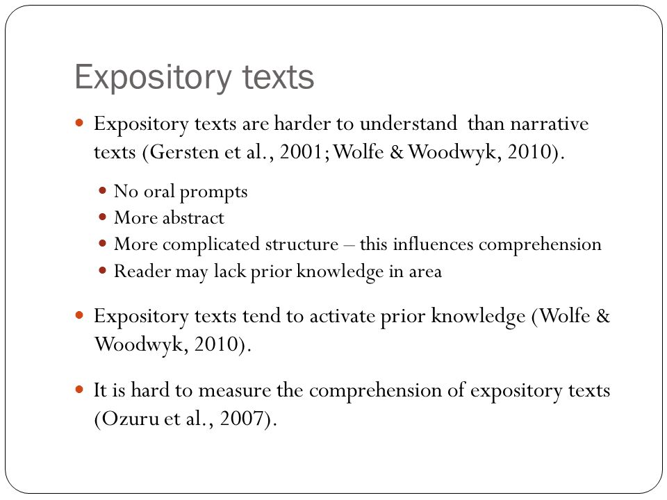Explicit/Implicit questions 'readers do not construct novel inferences when reading unfamiliar as opposed to familiar texts (Noordman, Vonk, & Kempff, 1992) unless the task situation demands readers to do so (Singer, Harkness, & Stewart, 1997)' (Ozuru et al., 2007, p.