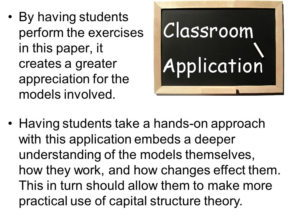 By having students perform the exercises in this paper, it creates a greater appreciation for the models involved.