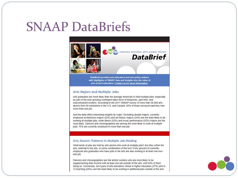 SNAAP DataBriefs