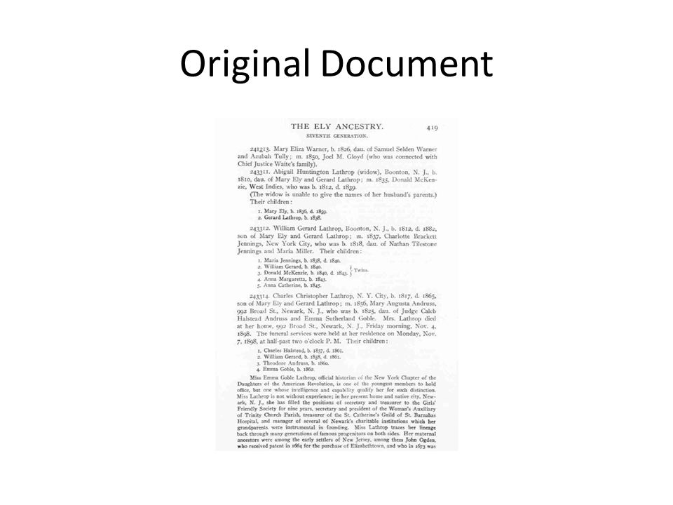 Original Document