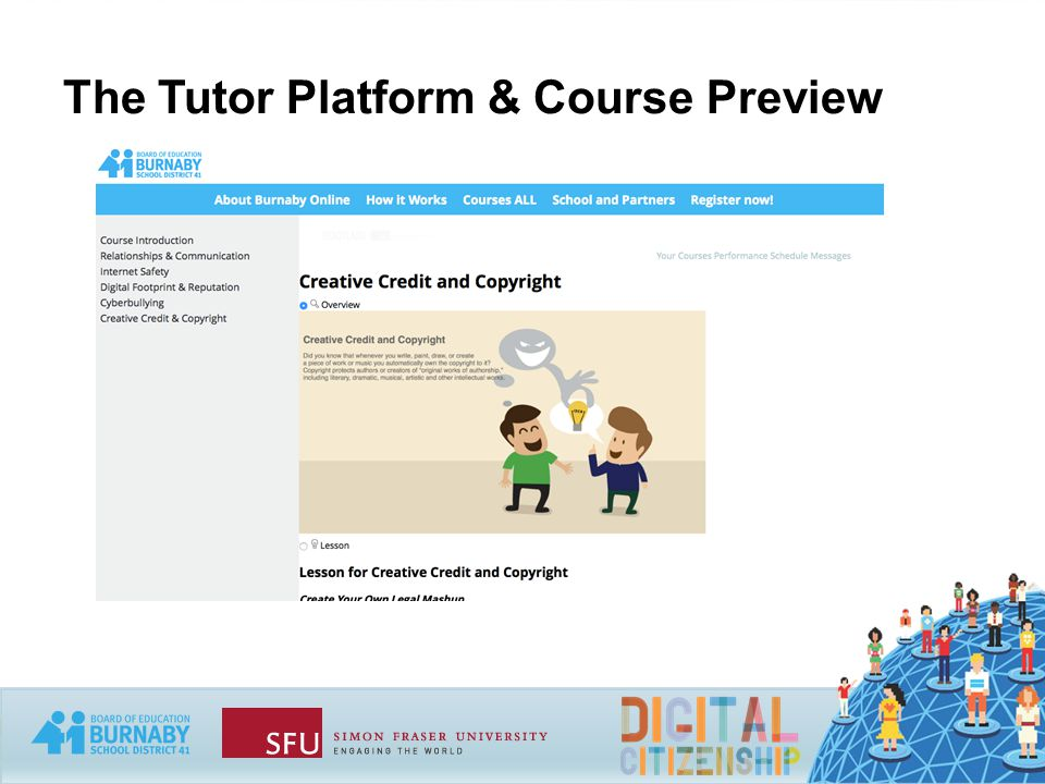 The Tutor Platform & Course Preview