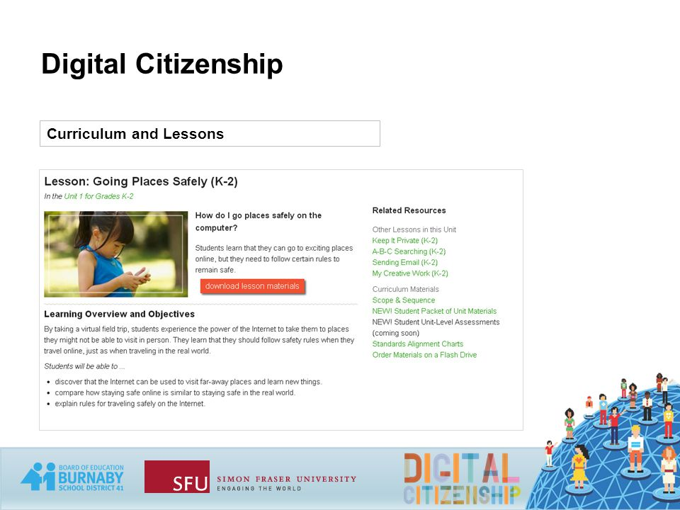 Digital Citizenship Curriculum and Lessons