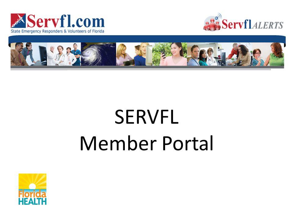 SERVFL Member Portal