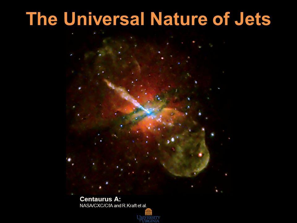 Slowly Evolving Black Holes Centaurus A: NASA/CXC/CfA and M. Hardcastle et al. 5 Myrs - Gyrs