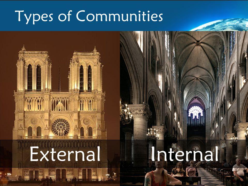 Types of Communities External Internal