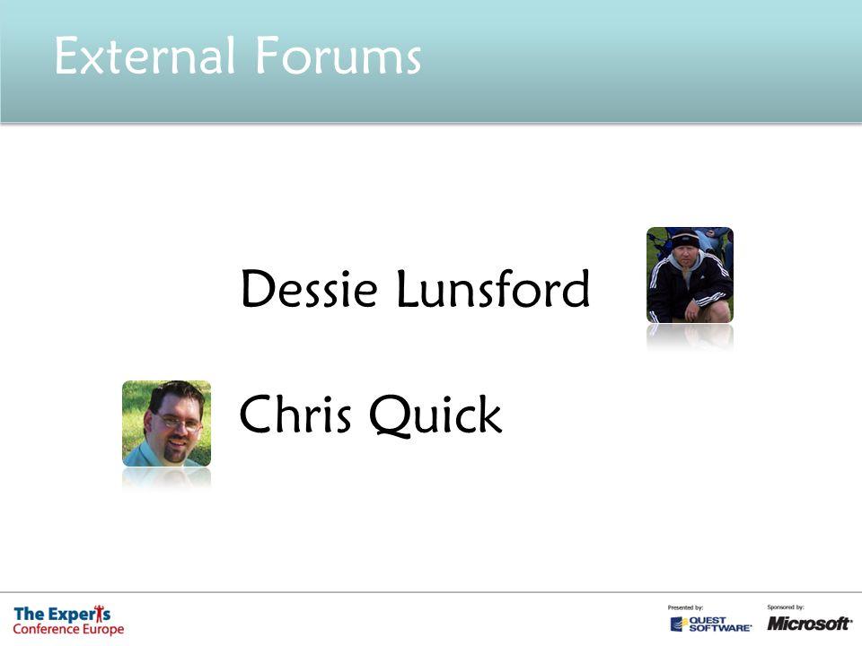 Dessie Lunsford Chris Quick External Forums