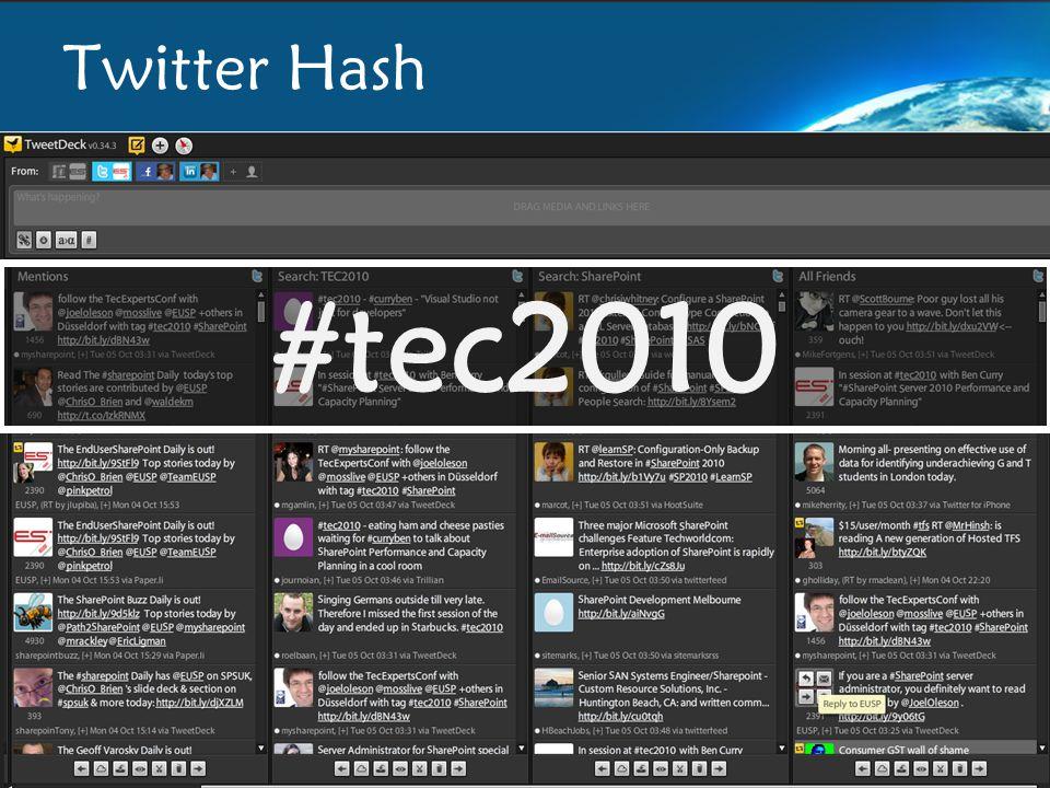 Twitter Hash #tec2010