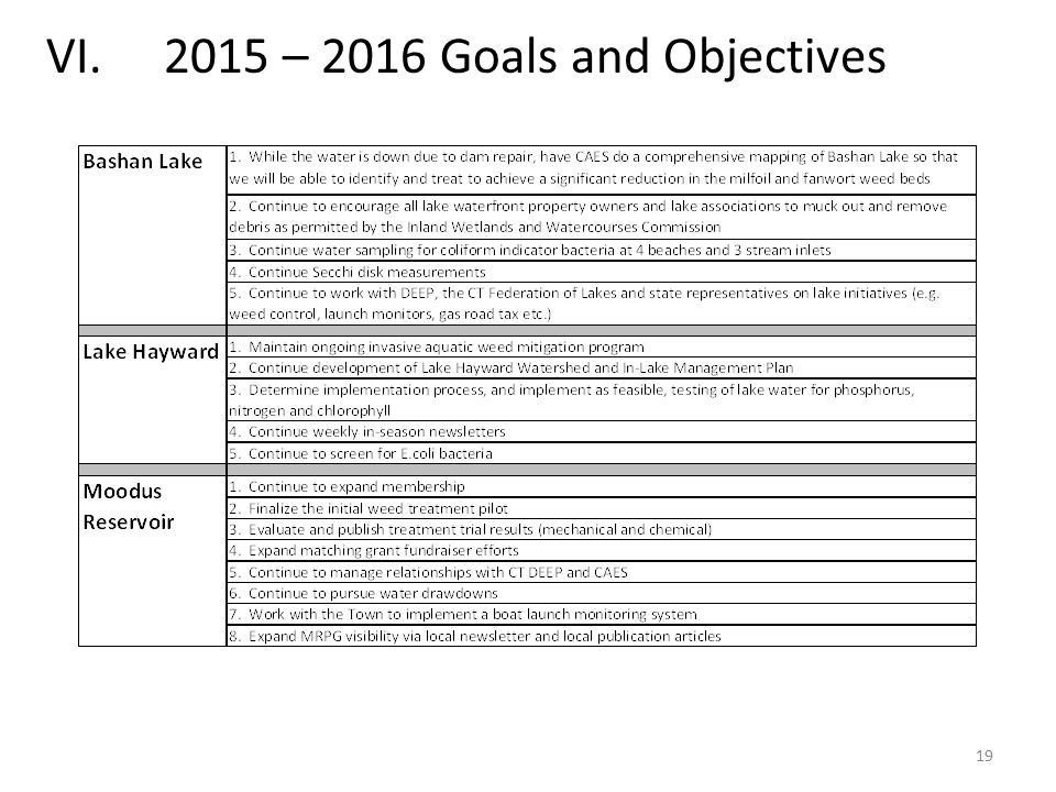 19 VI. 2015 – 2016 Goals and Objectives