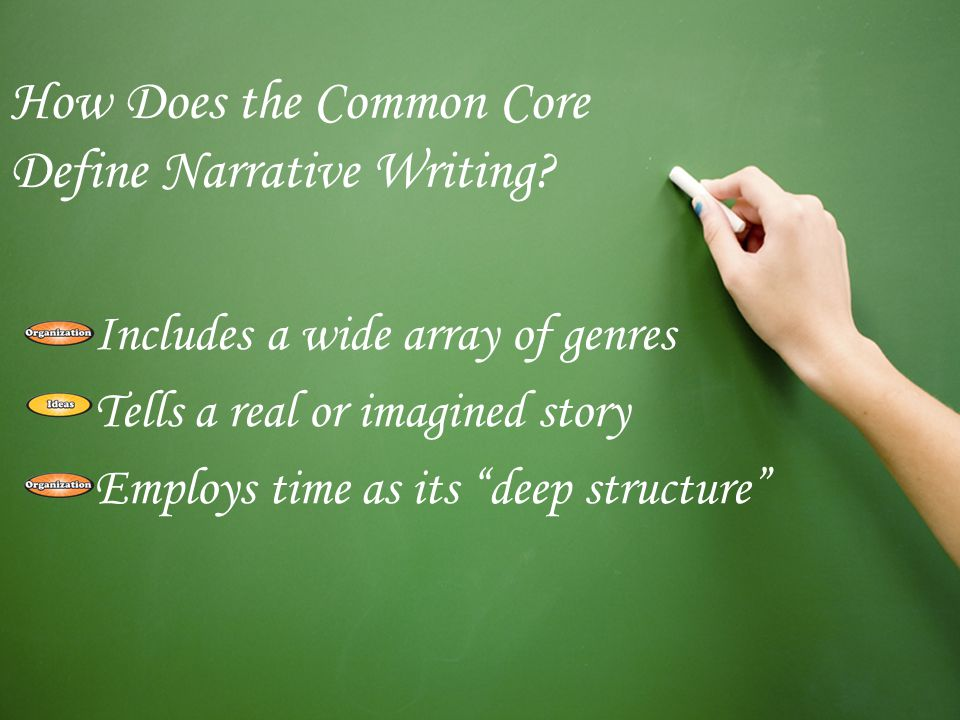 How Does the Common Core Define Narrative Writing.