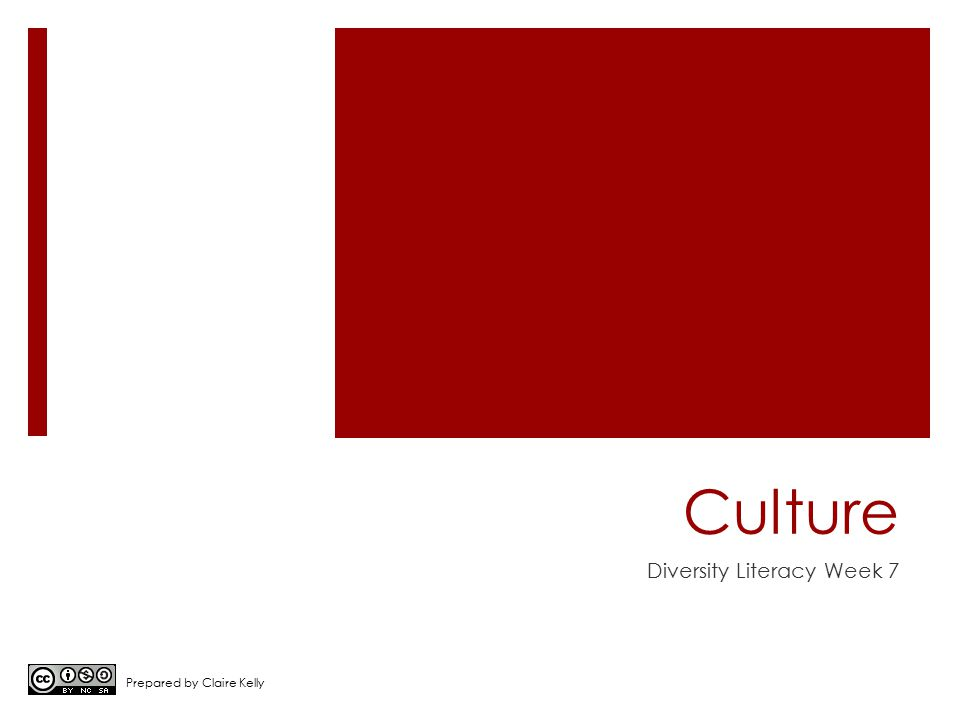 Culture Diversity Literacy Week 7 Prepared by Claire Kelly