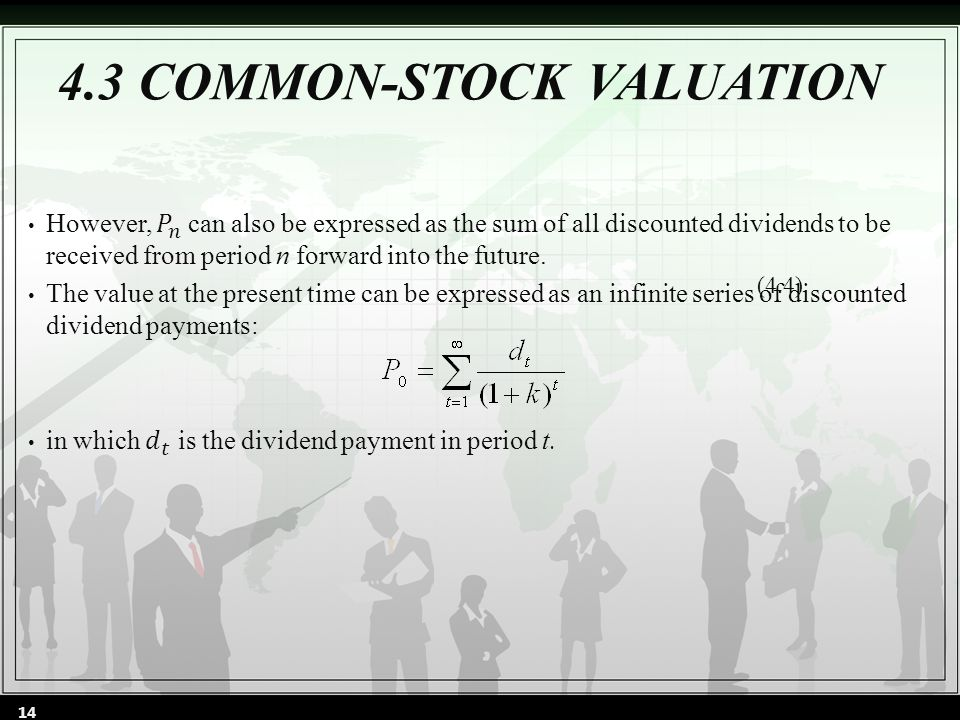 4.3 COMMON-STOCK VALUATION (4.4) 14