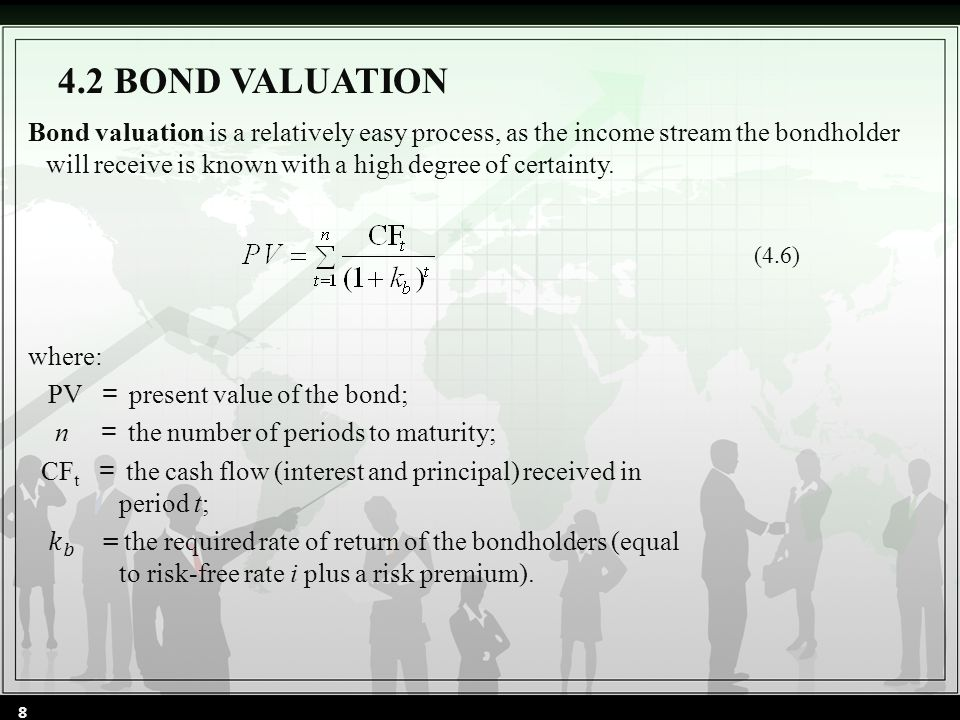 4.2 BOND VALUATION (4.6) 8