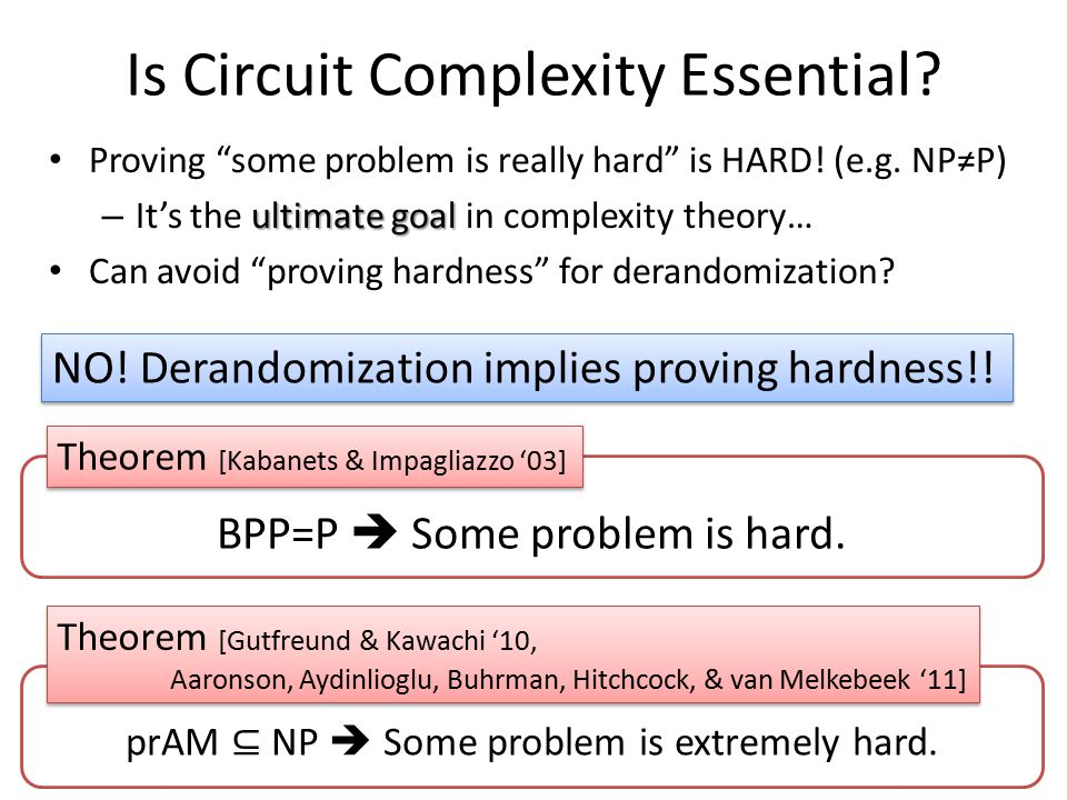 Is Circuit Complexity Essential. Proving some problem is really hard is HARD.