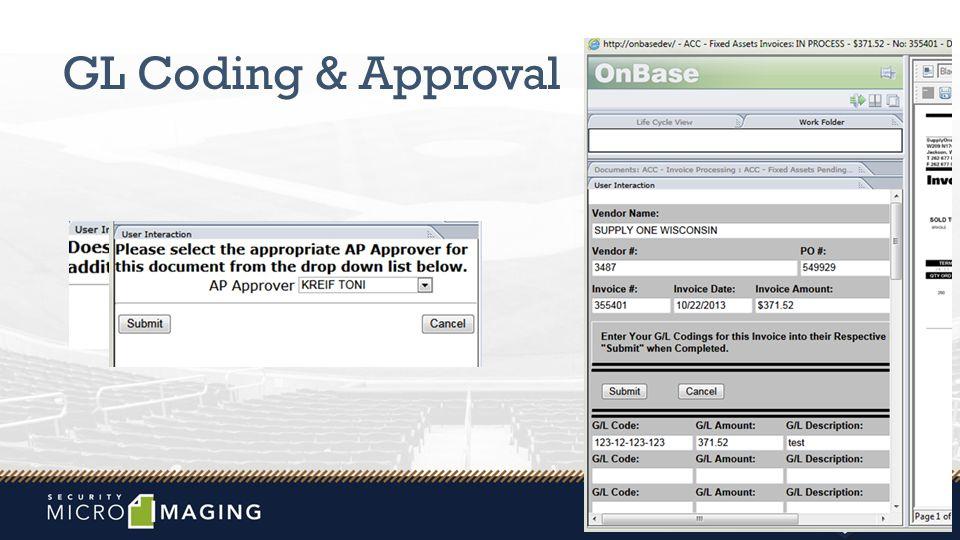 GL Coding & Approval